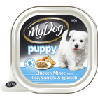 I140118-My Dog Mince, Rice & Carrots Puppy Food 100g
