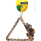 I150624-Avi One Tri-angle Rope & Wood Bird Swing