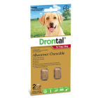 I246824-Drontal Chewable Worm Treatment For Large Dogs Over 35kg 2 Pack