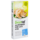 I246746-Drontal Worm Treatment For Cats 4kg 2 Pack