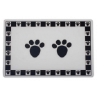 I154243-Petrageous Pet Paws Black Placemat