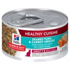 I246713-Hills Science Diet Healthy Cuisine Tuna & Carrot Medley Adult Cat Food 79g