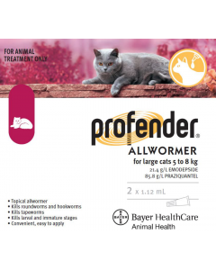 I246821-Profender All Wormer For Cats 5.1kg To 8kg - 2 Pack