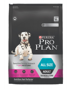I247644-Pro Plan Sensitive Skin & Stomach Dog Food With Optirestore 12kg