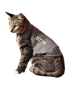 I249020-Thundershirt Small Grey Cat Calming Polo