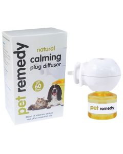 I252584-Pet Remedy Cat And Dog Calming Plug Diffuser White 40ml