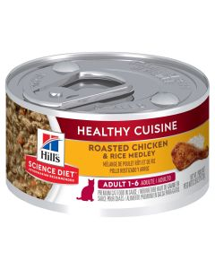 I246715-Hills Science Diet Healthy Cuisine Chicken & Rice Medley Adult Cat Food 79g