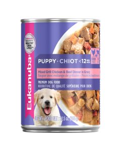 I247416-Eukanuba Puppy Mixed Grill Chicken & Beef Dinner In Gravy Can Dog Food 355g