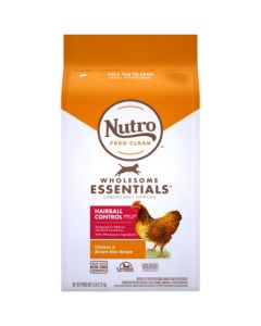 I254088-Nutro Wholesome Essentials Adult Cat Dry Food Chicken Hairball 2.26kg