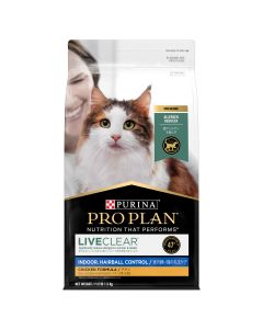 I255226-Pro Plan Liveclear Adult Cat Indoor Hairball 1.5kg