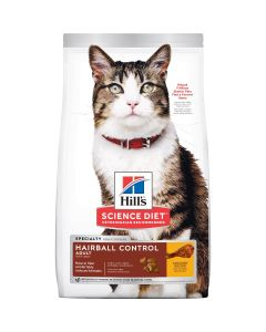 I247698-Hill's Science Diet Adult Hairball Control Cat Food 4kg