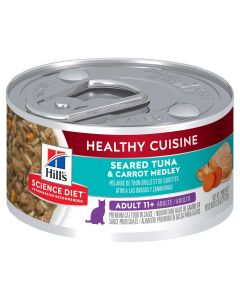 I246714-Hill's Science Diet Healthy Cuisine Tuna & Carrot 11+ Adult Cat Food 79g