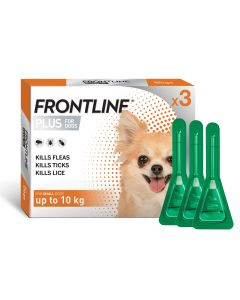 I246770-Frontline Plus Flea Treatment For Small Dogs Under 10kg 3 Pack