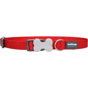 I248382-Red Dingo Adjustable Dog Collar Red 12mm