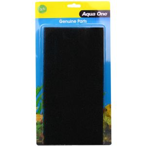 I114525-Aqua One Aquastyle Ar850 Black Sponge 2 Pack 4s