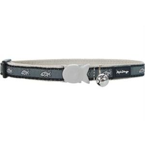I116242-Red Dingo Cat Collar Grey Shark Adjustble