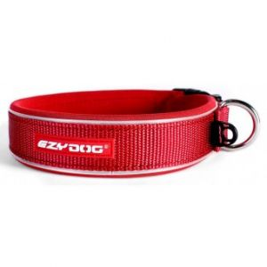 I249040-Ezydog Neoprene Dog Collar Small Red