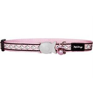I126620-Red Dingo Cat Collar Reflective Pink Fish