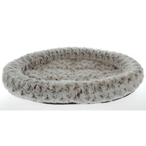 I247997-Trouble & Trix Snugglepuss Oval Latte Swirl Large Cat Bed