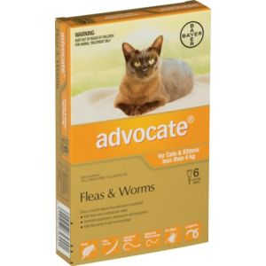 I246815-Advocate Flea Treatment For Cats Under 4kg - 6 Pack