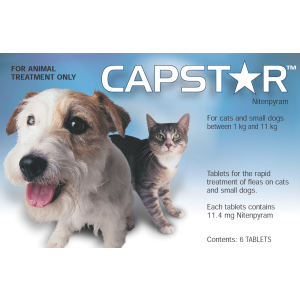 I248280-Capstar Flea Treatment For Small Dogs & Cats 6 Pack