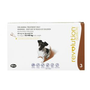 I246827-Revolution Flea Treatment For Dogs 5-10kg - 3 Pack