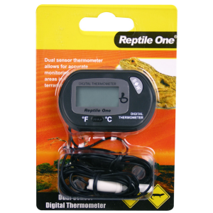 I136401-Reptile One Dual Zone Lcd Digital Thermometer