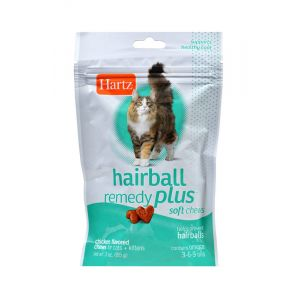 I138572-Hartz Hairball Remedy Plus Soft Chews Cat & Kitten Treats 85g
