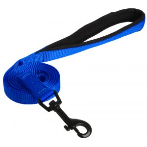 I248506-Yours Droolly Lead Foam Blue Medium 90cm