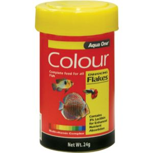 I246748-Aqua One Colour-enhancing Tropical Flake Food 24g