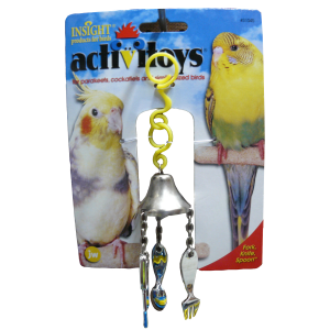 I142086-Jw Insight Fork Knife & Spoon Bird Toy
