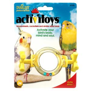 I142087-Jw Insight Rattle Mirror Bird Toy
