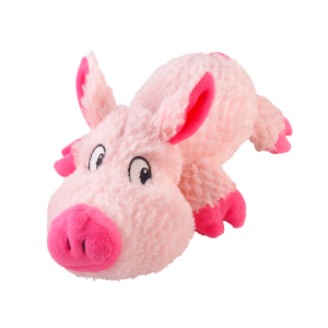I248022-Cuddlies Pink Pig Medium Dog Toy