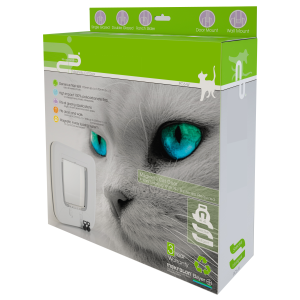 I143627-Petcorp Magnetic Cat Door For Use In Wood & Glass