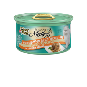 I247573-Fancy Feast Elegant Medleys Shredded White Meat Chicken Cat Food 85g