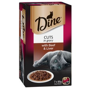 I247288-Dine Daily Cuts In Gravy With Beef & Liver Cat Food 85g 7 Pack