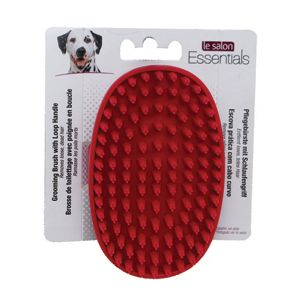 I146023-Le Salon Rubber Dog Grooming Brush With Loop