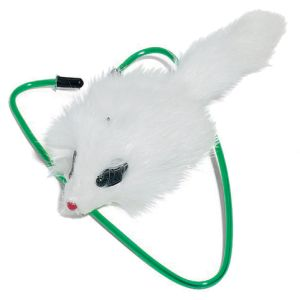 I246586-A-door-able Fur Mouse Bungee Cat Toy