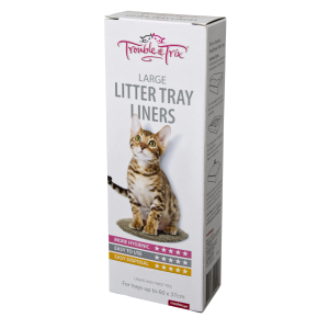 I248917-Trouble & Trix Litter Tray Liners Large 15 Pack