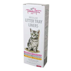 I248918-Trouble & Trix Litter Tray Liners Regular 20 Pack