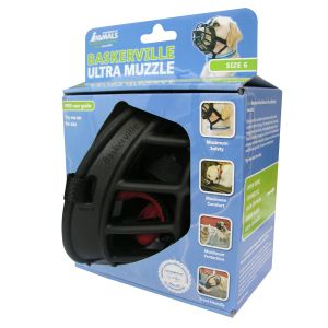 I247492-Baskerville Dog Muzzle Ultra Size 6 Black