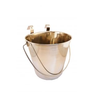 I248888-Stainless Steel Bucket With Flat Side 3.4l