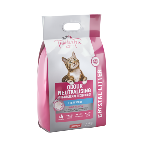 I248126-Trouble & Trix Crystal Cat Litter With Anti Bacterial Agent 7l
