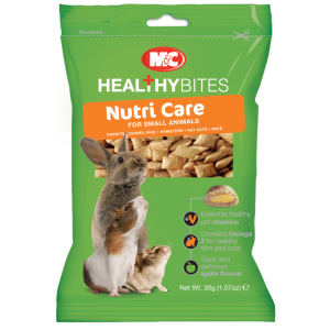 I155812-M&c Healthy Bites Nutri-care Small Animal Treats 30g