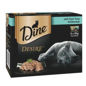 I247280-Dine Desire Pure Tuna Whitemeat 6 Pack Cat Food