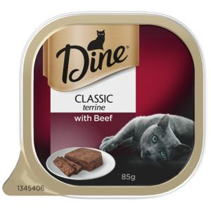 I247286-Dine Daily Classic Terrine With Beef Cat Food 85g