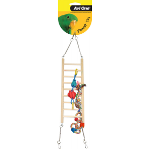 I157022-Avi One Swinging Bridge Bird Toy With Toys