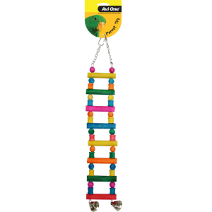 I157024-Avi One Block Ladder Bird Toy With Bells