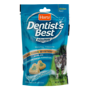 I157365-Hartz Dentists Best Chicken Flavoured Cat Treats 85g