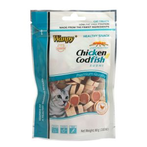 I249226-Wanpy Chicken & Codfish Sushi Cat Treat 80g